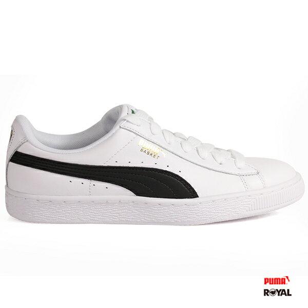 PUMA新竹皇家BasketClassic白色皮質休閒鞋男女款No.A9915