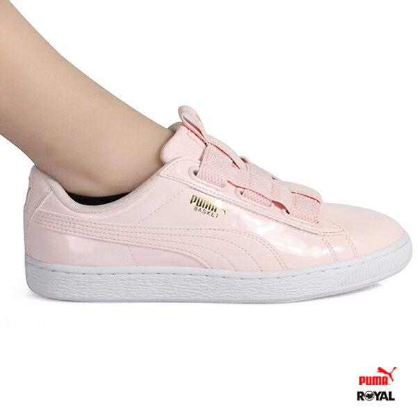 PUMA新竹皇家BasketMazeWn's莓粉漆皮造型綁帶休閒鞋女款No.I8806