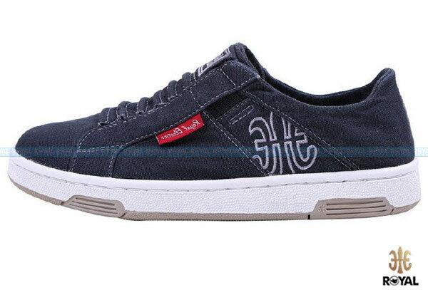 ROYAL ELASTICS 新竹皇家 ICON WASHED 深暗藍 水洗布 休閒鞋 女款 NO.I6568