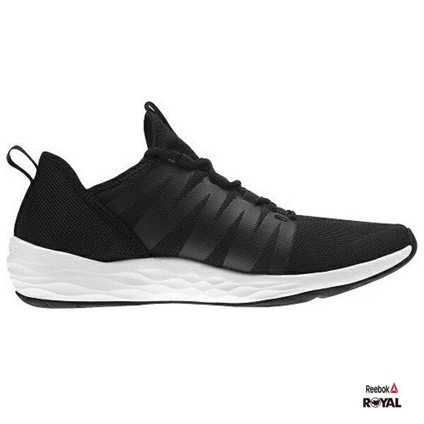 Reebok新竹皇家Astroride黑色網布套入式運動鞋男款NO.A9575