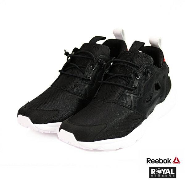 Reebok新竹皇家Furylite白色網布簍空套入式休閒鞋男女款NO.A9940