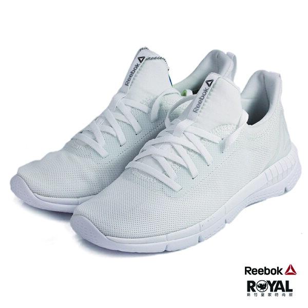 Reebok新竹皇家Print白色網布記憶鞋墊輕量慢跑鞋女款NO.I8229