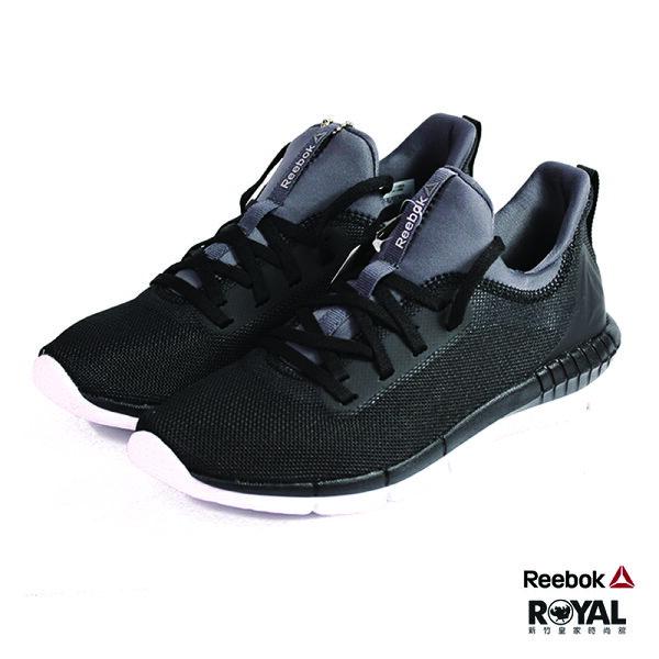 Reebok新竹皇家Print黑色網布套入式慢跑鞋女款NO.I8230