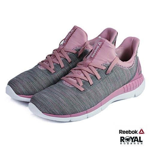 Reebok新竹皇家Print玫瑰粉色織布套入式休閒鞋女款NO.I8366