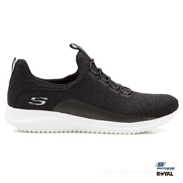 SKECHERS新竹皇家UltraFlex黑色布質懶人鞋輕量記憶鞋墊女款NO.I8191