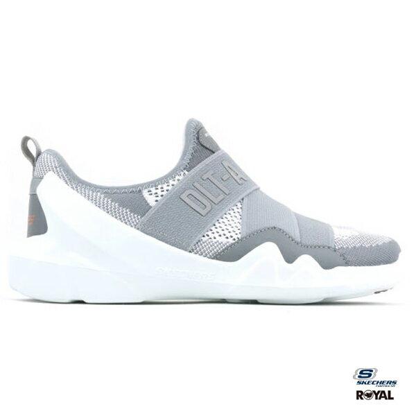 SKECHERS新竹皇家DLT-A灰色織布繃帶套入式運動鞋女款NO.I8340