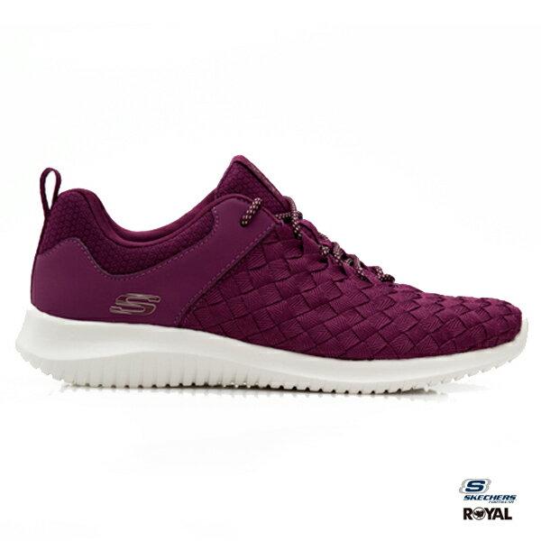 SKECHERS新竹皇家ULTRAFLEX紫色編織尼龍布休閒運動鞋女款NO.I8897