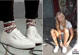 SUPERGA 義大利國民鞋 2075 新竹皇家 白色 帆布 百搭 男女款 NO.A5082