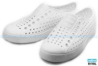 native 輕量懶人鞋、休閒防水鞋到Native 新竹皇家 JEFFERSON 白色 輕量  懶人鞋 男女款 NO.A6259