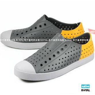 加拿大 Native 新竹皇家 JEFFERSON BLOCK 灰/黃 輕量 懶人鞋 男款 NO.A9120
