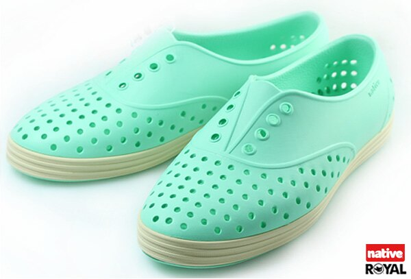 新竹皇家 加拿大 Native JERICHO 綠色 呼吸 輕量 橡膠 鞋款 女款 免運費NO.I3840