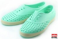 native 輕量懶人鞋、休閒防水鞋到(特價1299) 新竹皇家 加拿大 Native JERICHO 綠色 呼吸 輕量 橡膠 鞋款 女款 免運費NO.I3840