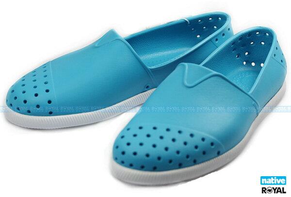 Native 新竹皇家 VERONA 藍色 輕量 水手鞋 懶人鞋 女款 NO.I5090