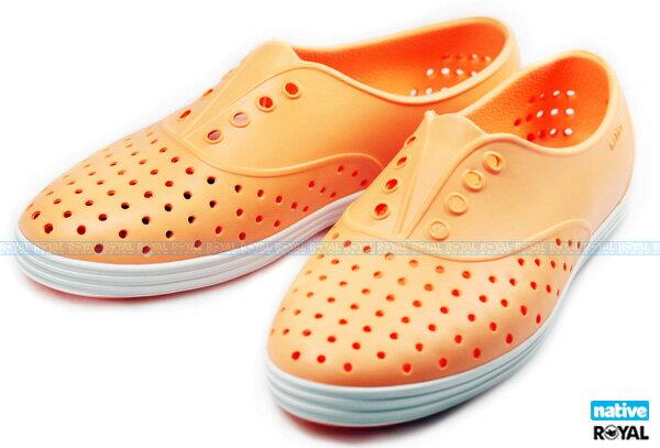 (特價1299)Native 新竹皇家 JERICHO 螢光橘 輕量 懶人鞋 女款 NO.I5176
