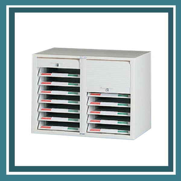『商款熱銷款』【辦公家具】CP-6207二排一層捲門式公文櫃資料櫃效率櫃櫃子檔案收納