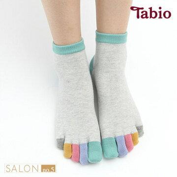 【靴下屋Tabio】女款短筒彩色五趾襪