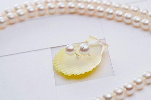 大東山珠寶 日本AKOYA天然海水珍珠長鍊耳環套組 典藏珍心 1