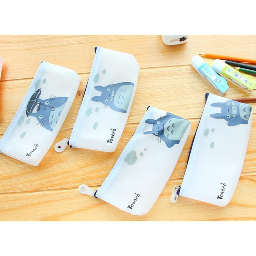 【霧面龍貓筆袋】仿真趣味 韓風可愛創意卡通 零食筆袋 皮革筆袋 鉛筆盒 筆袋 零錢包 婚禮小物