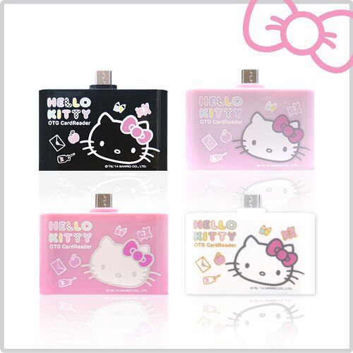 ????登芳3C????Hello Kitty 多功能行動OTG 讀卡機-夢境黑