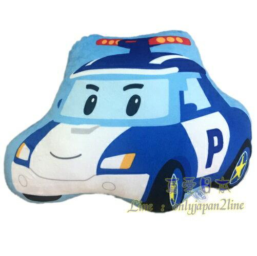 【真愛日本】16090700009造型枕12吋波力POLI     救援小英雄 波利警車    抱枕 枕頭 靠枕 墊枕
