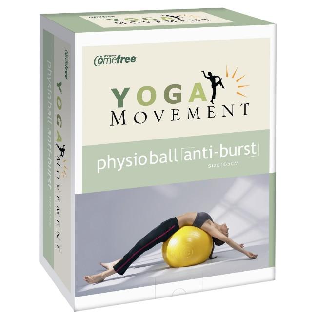 Comefree瑜珈抗力球(顏色黃藍,隨機出貨)