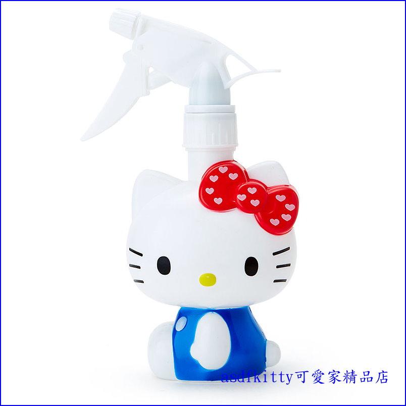 asdfkitty可愛家☆KITTY藍背心噴霧罐/噴水瓶/澆花器-可噴水-400ML-日本正版商品