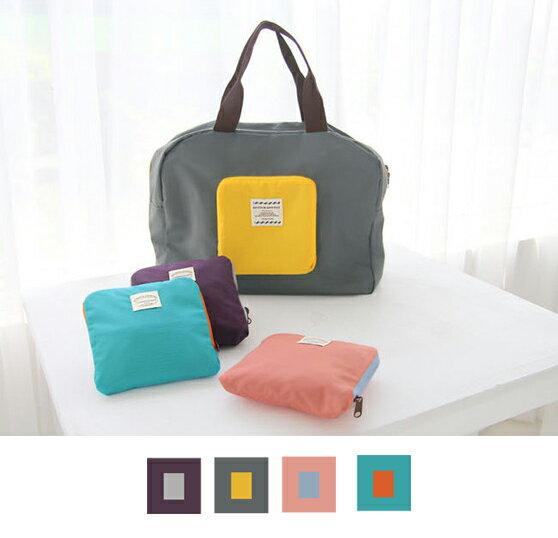 ~酷 ~可折疊旅行 收納包 袋單肩包衣物收納袋^(E222^)