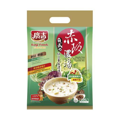廣吉赤阪濃湯-納豆蕈菇20g*10包【愛買】