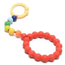 【淘氣寶寶】美國CHEWBEADS嬰兒固齒推車玩具-七彩虹【無細小裝飾物並採一體成型矽膠圈,預防咬珠散落及誤食】