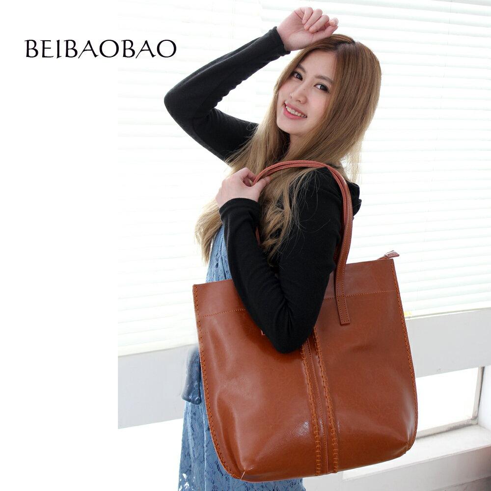 【BEIBAOBAO】浪漫巴黎真皮肩背包(共三色 奶茶棕) 0