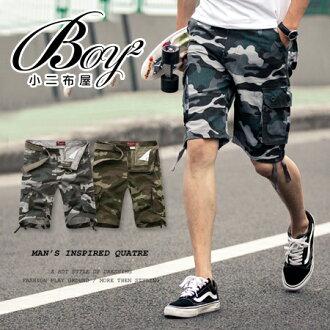 ☆BOY-2☆ 【NZ91004】軍裝工作褲迷彩休閒短褲