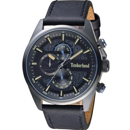 Timberland 天柏嵐 雙時區休閒皮帶錶(TBL.15953JSB / 02)46mm 0