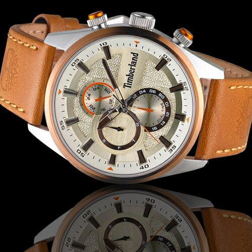 Timberland 天柏嵐 雙時區休閒皮帶錶(TBL.15953JSTBN / 04)46mm 1