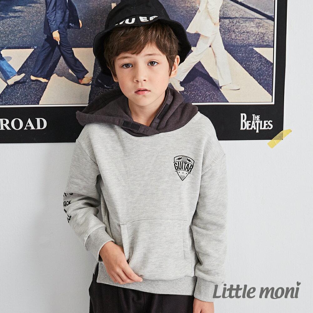 Little moni 連帽撞色刷毛運動衫 -灰色(好窩生活節) 1