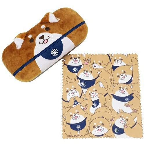 ((新品預購))超可愛日本柴犬絨毛眼鏡盒(附柴柴擦拭布)眼鏡盒_櫻花寶寶