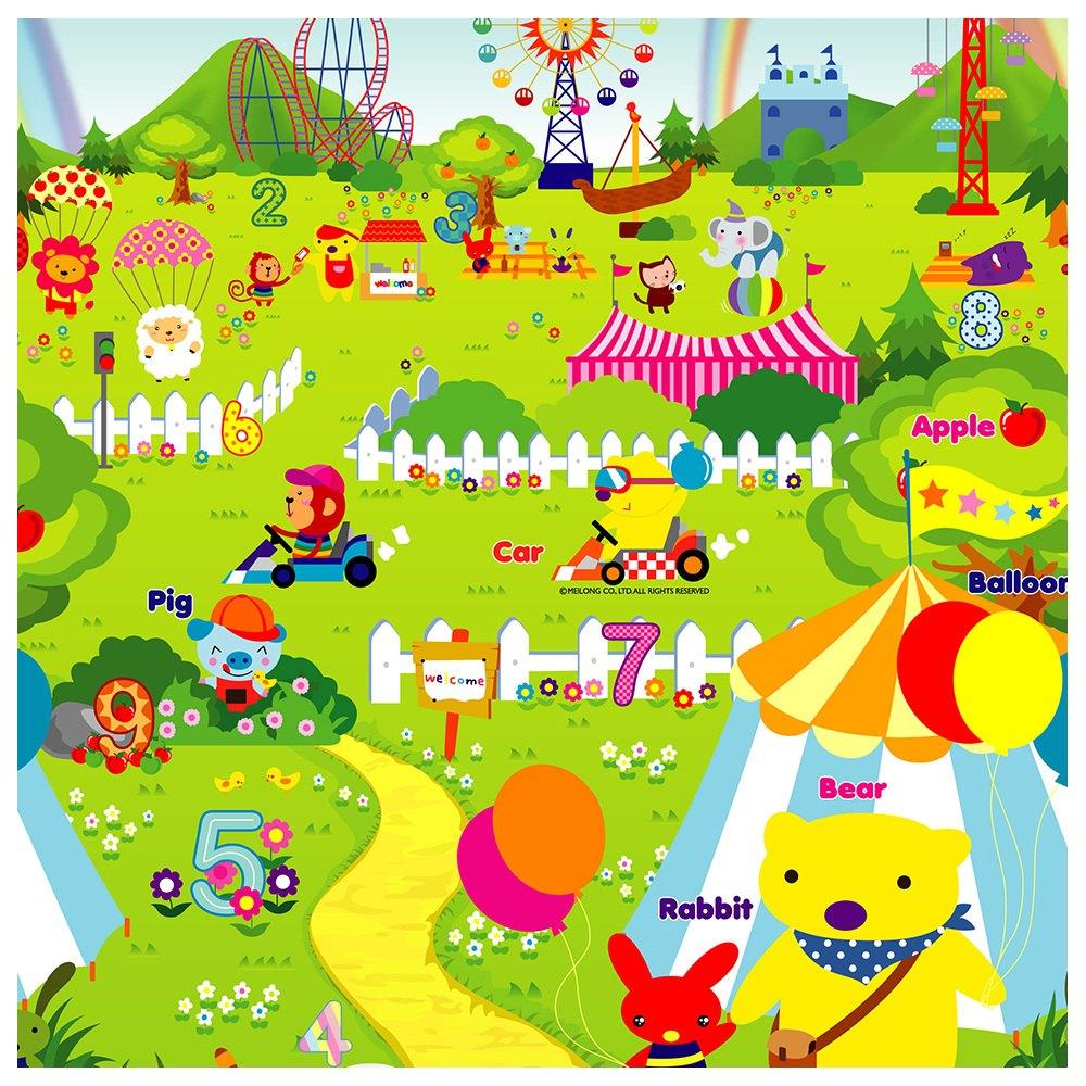 泰山美龍 兒童遊戲地墊 (火車ABC+動物樂園) 180*200*1.5cm【紫貝殼】 1
