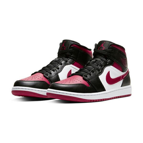"""【NIKE】AIR JORDAN 1 MID  """"BRED TOE"""" 運動鞋 飛人 中筒 8孔 籃球鞋 紅 黑 男鞋 -554724066 1"""