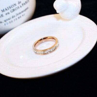 玫瑰金戒指鑲鑽銀飾-時尚簡約復古大方母親節生日情人節禮物女飾品73by59【獨家進口】【米蘭精品】