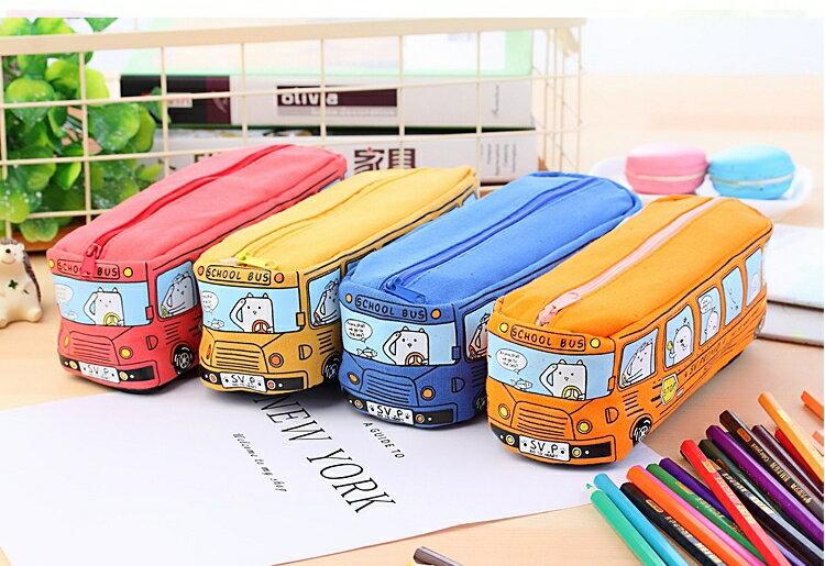 創意 學生文具 動物 巴士筆袋  鉛筆盒 學生文具 [928福利社]全館299免運