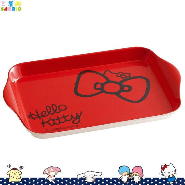 HELLOKITTY凱蒂貓美耐皿托盤商品展示盤擺飾盤食物水果盤紅日本進口正版367632