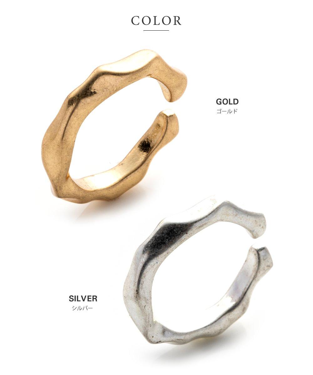 日本CREAM DOT  /  リング 指輪 金属アレルギー ニッケルフリー レディース 12号 ファッションリング クラフト調 メタル たたき加工 大人カジュアル シンプル 可愛い ゴールド シルバー  /  d00080  /  日本必買 日本樂天直送(790) 3