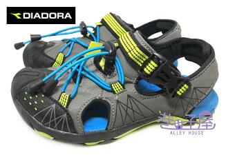 【巷子屋】義大利國寶鞋-DIADORA迪亞多納 男童護趾輕量戶外運動涼鞋 [2198] 灰 超值價$398