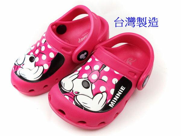 EMMA商城~Disney迪士尼可愛米妮超輕量軟Q園丁鞋.懶人布希鞋.兒童涼拖鞋.童鞋15-22號