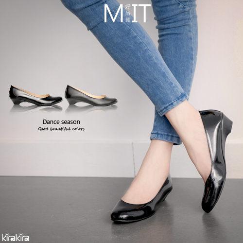 低跟包鞋 SALE OL百搭素色圓頭低跟包鞋~