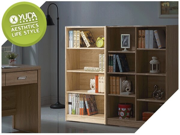 【YUDA】北歐風 全木心板 低 波麗漆 2尺 書櫃/書架 I9X 936-204