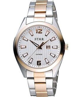 STAR時代錶 9T1602-231RG-W雙色摩登時尚腕錶/白面39mm