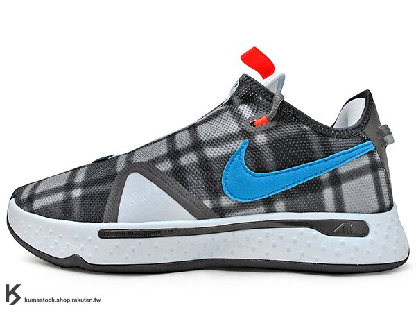 2020 強力登場 全明星球員 Paul George 個人最新簽名鞋款 NIKE PG 4 EP 灰黑藍 格紋 拉鍊 襪套式內靴包覆 全腳掌 AIR 氣墊 籃球鞋 PG4 (CD5082-002) 0220 0