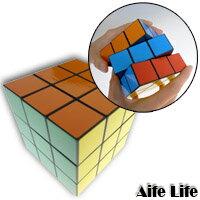 【aife life】立體魔術方塊(大)(6.5cm)/腦力激盪/益智玩具,隨手攜帶,色彩鮮豔順暢好轉!!