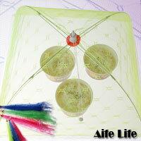 【aife life】桌上摺疊式菜罩(中),清洗容易、方便實用、操作簡單,能有效防止蚊蟲蒼蠅直接接觸食物造成細菌污染。