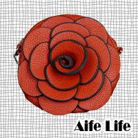 【aife life】日韓春夏,新款山茶花手提包/玫瑰/手拿包/側背/肩包,立體山茶花造型,今夏引人注目的焦點